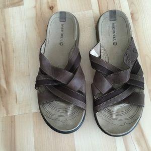 Men's Brown Merrell Sandals
